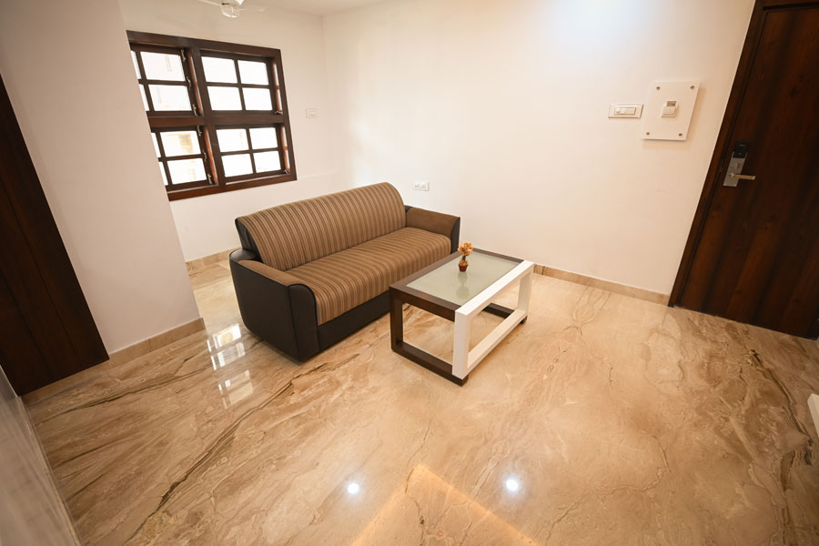 Homely stay with living area, bedroom and bath